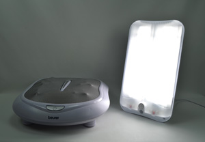 Lumie Arabica Lightbox & Beurer FM60 Shiatsu Foot Massager