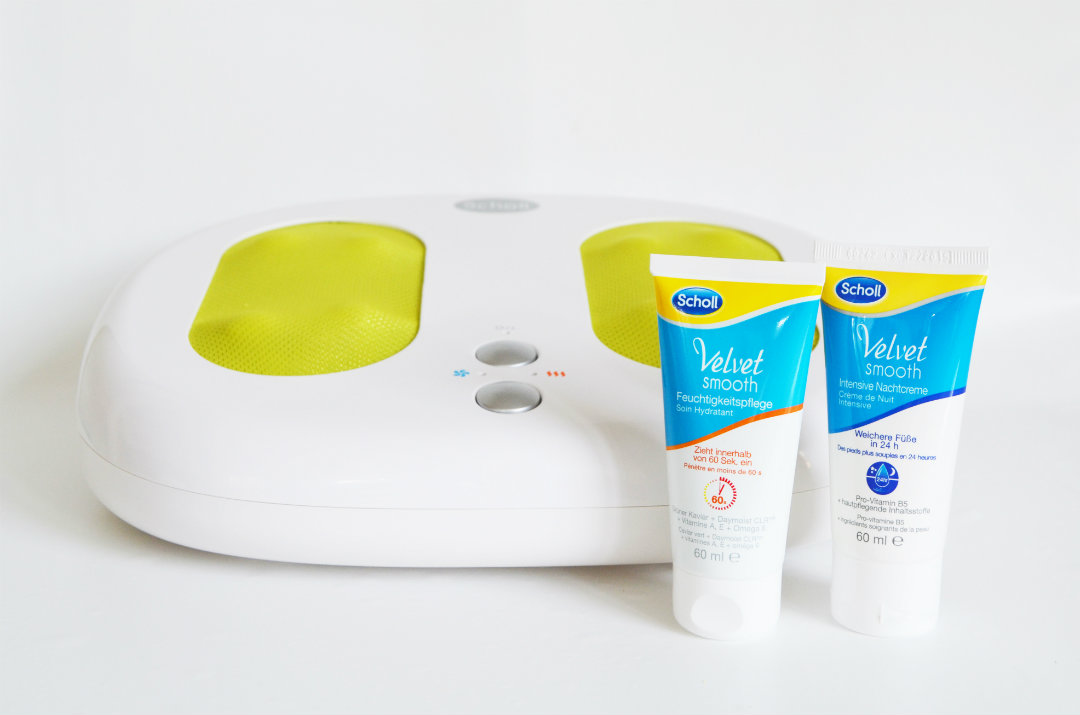Pampering package: Scholl Thermodynamic Shiatsu Platform for the feet + Foot Care for Day and Night