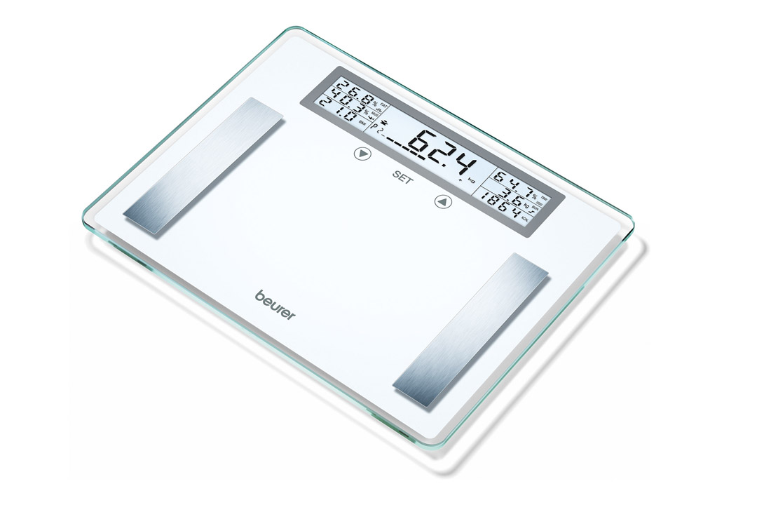 Glass Diagnostic Scale Xxl Up To 200 Kg With Bmi