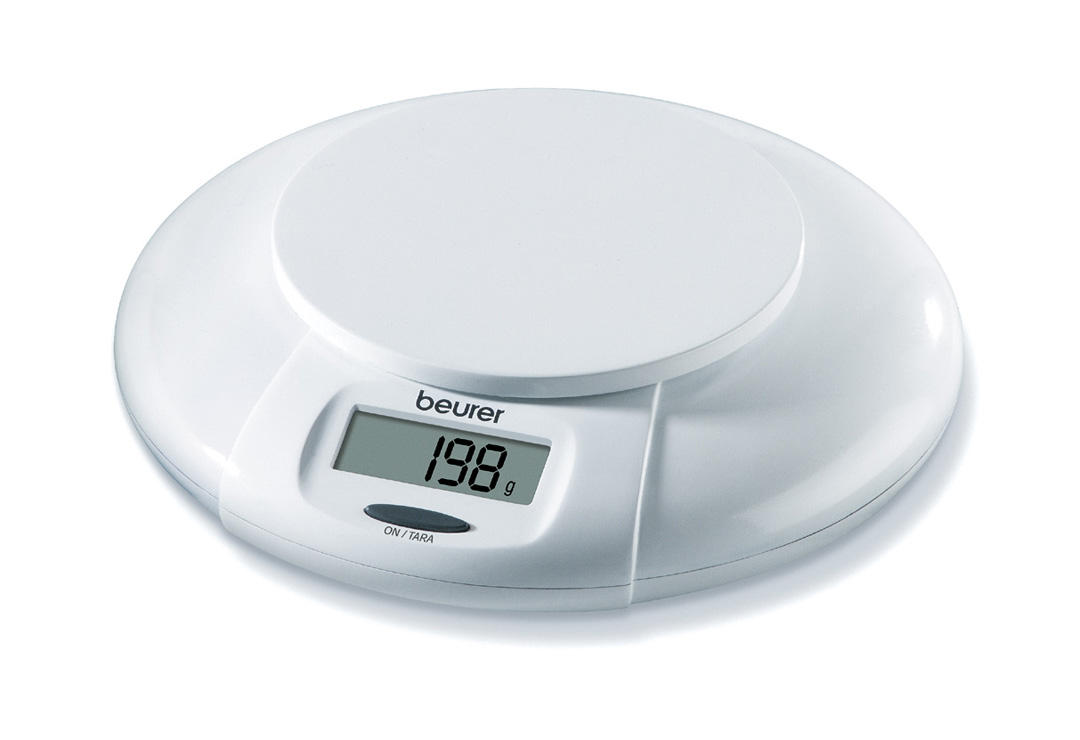Kitchen scale Beurer KS30 white plastic (CHF 24) - Wellness Products ...