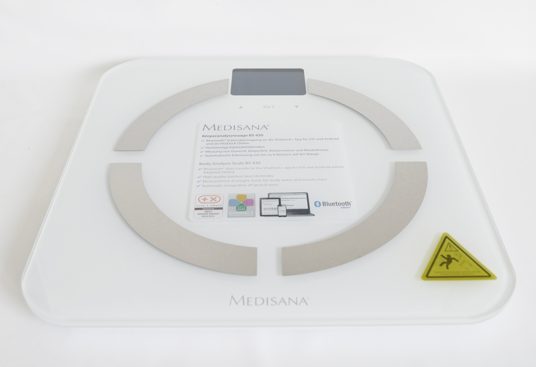 Body Analysis Scale with Bluetooth Medisana BS430 Connect, white with display backlight