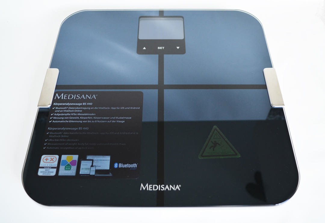 K-Tip Test Winner: Body Analysis Scale with Bluetooth Medisana BS 440 Connect, black with blue display backlight