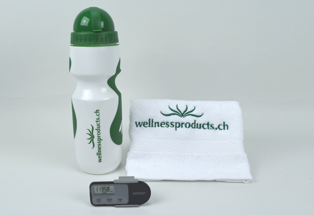 Contapassi Omron Walking Style One 2.1 + borraccia e asciugamano wellnessproducts