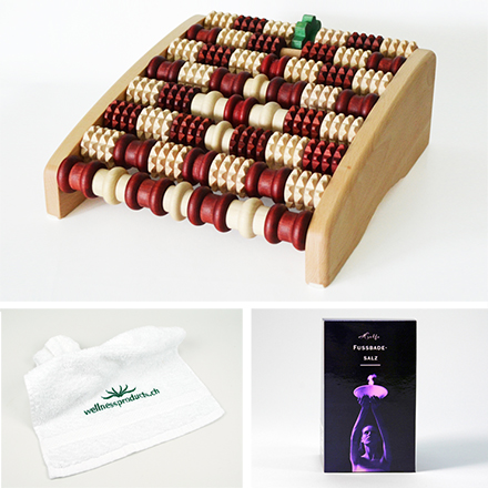 Foot massage package: Promed PediVital, Helfe Salt for Foot Bath & Wellnessproducts Towel