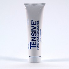Tensive electrode gel for use with permanent electrodes in TENS / EMS treatment.