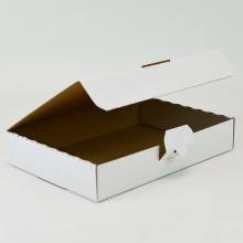 Practical cardboard box in small size for storing, transporting or shipping various objects