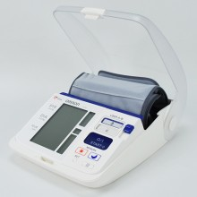 This new fully automatic upper arm blood pressure monitor now also has a feature for detecting Morning Hypertension.