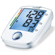 Particularly easy to use blood pressure monitor with large display. Fully automatic blood pressure measurement; WHO classification, arrhythmia detection.