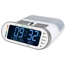 Bloodpressure monitor with radio Medisana MTR: 2-in-1 combination unit composed of an upper arm blood pressure monitor and a clock radio