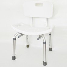 Seat of durable plastic with drainage holes and molded handgrips.