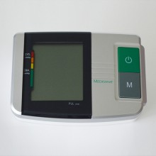 Colour-coded scale classifies blood pressure readings according to the WHO (World Health Organization) system