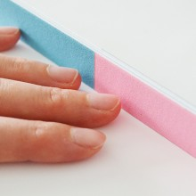 nail file for filing and polishing the nails during manicure
