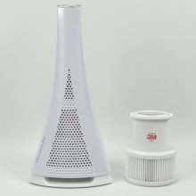 Room air purifier Medisana Air with included filter and additional replacement filter.