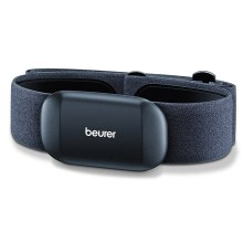 Integrating fitness and with smartphone technology. Receiver and chest strap provide the fitness app with heart rate data.