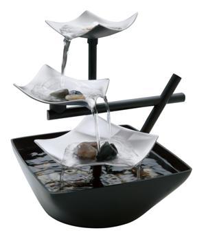 entspannender brunnen silver spring zimmerbrunnen in asiatischem stil chf 99 wellness. Black Bedroom Furniture Sets. Home Design Ideas