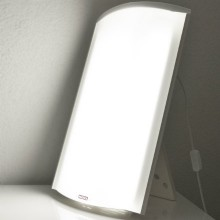 Light therapy lamps with dimmer