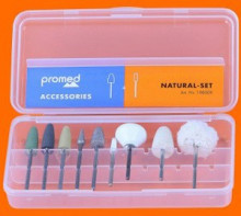 This will give your natural nails the best look: cultivate, shape, matt or polish your nails with these high quality bits.
