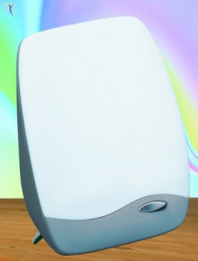 Davita Vitality bright light lamp: handy and powerful. You can set it up or mount it on the wall.