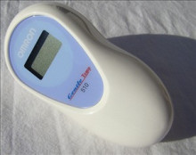 The small Omron Gentle Temp 510 lies well in the hand, thanks to its rounded, ergonomic shape.