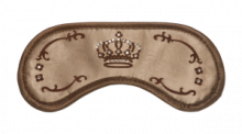 Made of the finest fabrics and adorned with the finest Swarovski Elements, this eye mask will watch over your sleep.