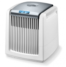 Air humidification and air cleaning in one device