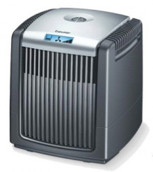 Cleans the air from unpleasant particles and humidifies it automatically