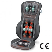 Particularly pleasant massage through ergonomic bucket seat shape and optional heating