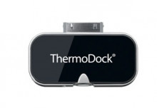 ThermoDock: Worldwide the first fever thermometer for the iPhone. Contactless measurement of the body temperature using an infrared sensor.