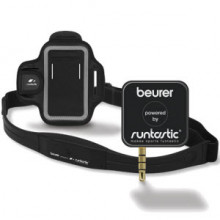 Integrating fitness and with smartphone technology. Receiver and chest strap provide the Runtastic app with heart rate data.