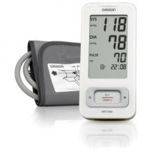 Upper arm blood pressure measurement device MIT Elite is highly portable and operated by one button.