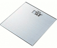 Elegant square glass scale with vibration-on technology