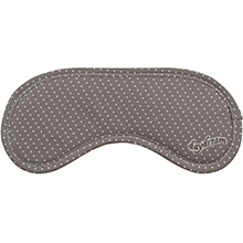 Daydream Dots Brown eye mask with pattern of delicate dots