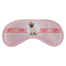 Well protected into the night: on this Daydream Pet Pink sleep mask, a bulldog with a crown proudly protects your sleep