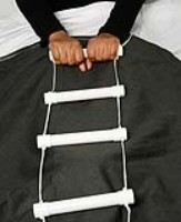 If you still have the strength a rope ladder for your bed is an ideal aid to help you to sit up.
